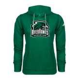 Adidas Climawarm Dark Green Team Issue Hoodie-RiverHawks Athletics