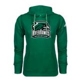 Adidas Climawarm Dark Green Team Issue Hoodie-RiverHawks Athletics