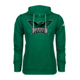 Adidas Climawarm Dark Green Team Issue Hoodie-Alternate Full Hawk Logo Full Color