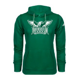 Adidas Climawarm Dark Green Team Issue Hoodie-Alternate Full Hawk Logo Two Color