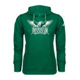 Adidas Climawarm Dark Green Team Issue Hoodie-Alternate Full Hawk Logo Two Color