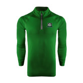 Under Armour Dark Green Tech 1/4 Zip Performance Shirt-NSU Northeastern State