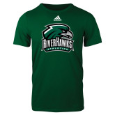 Adidas Dark Green Logo T Shirt-RiverHawks Athletics