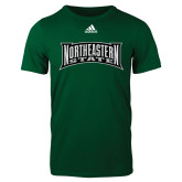 Adidas Dark Green Logo T Shirt-Northeastern State