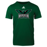 Adidas Dark Green Logo T Shirt-Alternate Full Hawk Logo Full Color