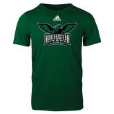 Adidas Dark Green Logo T Shirt-Alternate Full Hawk Logo Full Color