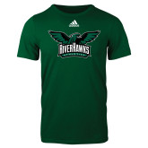 Adidas Dark Green Logo T Shirt-Alternate RiverHawks Athletics Reduced Color