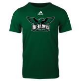 Adidas Dark Green Logo T Shirt-Alternate RiverHawks Athletics Reduced Color