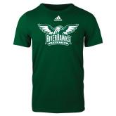 Adidas Dark Green Logo T Shirt-Alternate RiverHawks Athletics Two Color