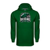 Under Armour Dark Green Performance Sweats Team Hoodie-RiverHawks Athletics