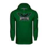 Under Armour Dark Green Performance Sweats Team Hoodie-Alternate Full Hawk Logo Full Color