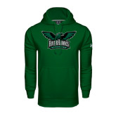 Under Armour Dark Green Performance Sweats Team Hoodie-Alternate RiverHawks Athletics Full Color