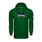 Under Armour Dark Green Performance Sweats Team Hoodie-Alternate RiverHawks Athletics Reduced Color