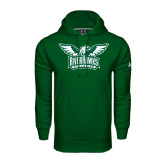 Under Armour Dark Green Performance Sweats Team Hoodie-Alternate RiverHawks Athletics Two Color