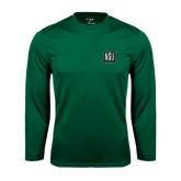 Performance Dark Green Longsleeve Shirt-NSU Northeastern State