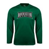 Performance Dark Green Longsleeve Shirt-Northeastern State