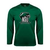 Performance Dark Green Longsleeve Shirt-Soccer