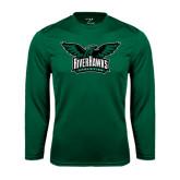 Performance Dark Green Longsleeve Shirt-Alternate RiverHawks Athletics Reduced Color