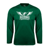 Performance Dark Green Longsleeve Shirt-Alternate RiverHawks Athletics Two Color