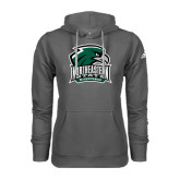 Adidas Climawarm Charcoal Team Issue Hoodie-Northeastern State RiverHawks w/Hawk Head