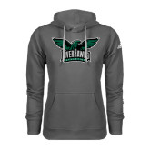 Adidas Climawarm Charcoal Team Issue Hoodie-Alternate RiverHawks Athletics Full Color
