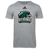 Adidas Sport Grey Logo T Shirt-RiverHawks Athletics