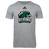 Adidas Sport Grey Logo T Shirt-RiverHawks Athletics