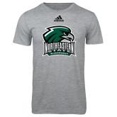 Adidas Sport Grey Logo T Shirt-Northeastern State RiverHawks w/Hawk Head