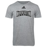 Adidas Sport Grey Logo T Shirt-Northeastern State