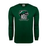 Dark Green Long Sleeve T Shirt-Football