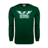 Dark Green Long Sleeve T Shirt-Alternate RiverHawks Athletics Two Color