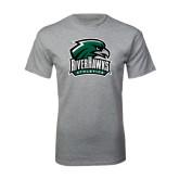 Grey T Shirt-RiverHawks Athletics
