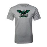 Grey T Shirt-Alternate Full Hawk Logo Full Color