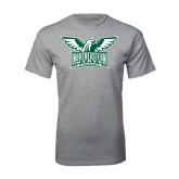 Grey T Shirt-Alternate Full Hawk Logo Two Color