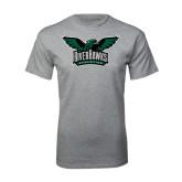 Grey T Shirt-Alternate RiverHawks Athletics Full Color