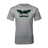 Grey T Shirt-Alternate RiverHawks Athletics Reduced Color