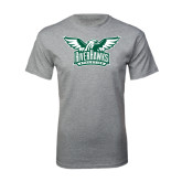 Grey T Shirt-Alternate RiverHawks Athletics Two Color