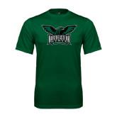 Performance Dark Green Tee-Alternate Full Hawk Logo Full Color