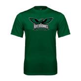 Performance Dark Green Tee-Alternate RiverHawks Athletics Reduced Color
