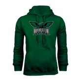 Dark Green Fleece Hood-Alternate Full Hawk Logo Full Color