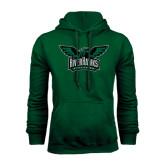 Dark Green Fleece Hood-Alternate RiverHawks Athletics Full Color