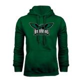 Dark Green Fleece Hood-Alternate RiverHawks Athletics Reduced Color