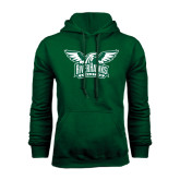 Dark Green Fleece Hood-Alternate RiverHawks Athletics Two Color