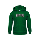 Youth Dark Green Fleece Hoodie-Northeastern State