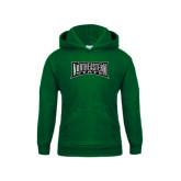 Youth Dark Green Fleece Hoodie-Northeastern State