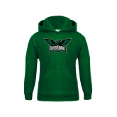 Youth Dark Green Fleece Hoodie-Alternate RiverHawks Athletics Reduced Color