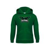 Youth Dark Green Fleece Hoodie-Alternate RiverHawks Athletics Reduced Color
