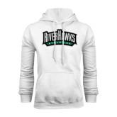 White Fleece Hoodie-RiverHawk Athletics