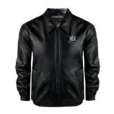 Black Leather Bomber Jacket-NSU Northeastern State