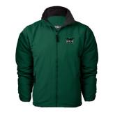 Dark Green Survivor Jacket-Alternate Full Hawk Logo Reduced Color